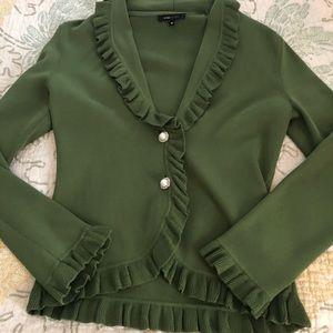 BCBG MAXAZRIA Ruffled Sweater